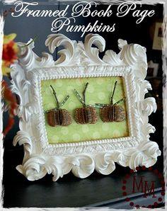 framed book page pumpkins tut