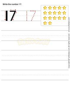 Number Writing Worksheet 17 - math Worksheets - preschool Worksheets