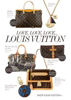 LOVE. LOVE. LOVE. LOUIS VUITTON!