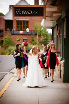 Bridal party shots on streets of downtown