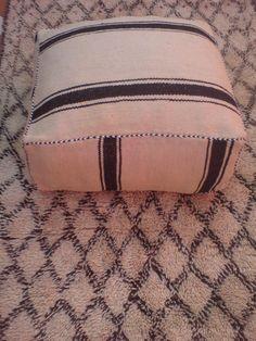 Vintage Moroccan Berber Kilim Pouf Floor Pillow $120