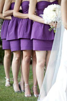 Purple peplum style.