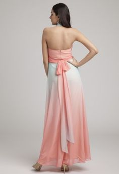 Ombre Halter Long Dress - these colors are just gorgeous together