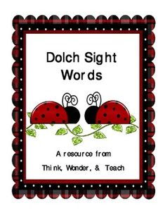 Sight Word Centers