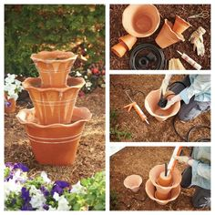 water featur, diy water fountains, waterfeatur