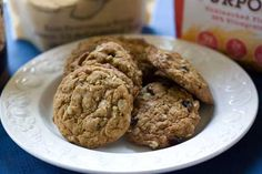 Oatmeal cookies made with Steviacane sweetener.  Overall, pretty darn good!  Aftertaste wasn't bad and the texture was awesome.