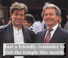 temple attendance reminder. Lol