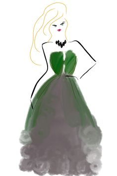 An #Emerald work of art.  We absolutely love this sketch featuring the @Lola McGinnis COLOR #coloroftheyear.