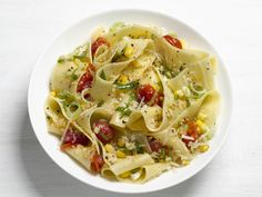 Pappardelle With Corn Recipe : Food Network Kitchens : Food Network - FoodNetwork.com