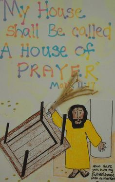 No instructions, but good craft idea Growing Kids in Grace: Jesus clears the temple