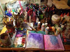 art journaling space. by shanta.devi, via Flickr
