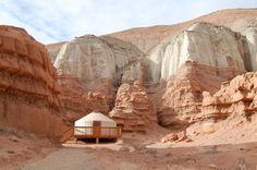 yurt in goblin valley state park