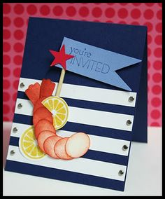 Stampin' Up!  Punch Art  Erica Cerwin  Shrimp