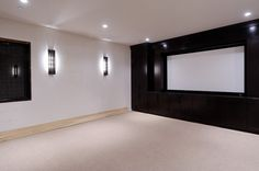 build this around our screen? Theatre contemporary media room