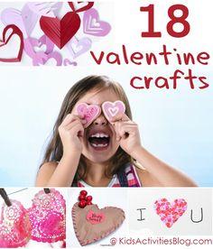 18 Valentines Crafts for Kids