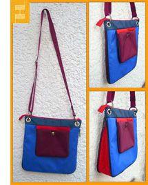 Handtasche Zip, erweiterbar durch einen Reißverschluss im Boden der Tasche - kostenloses Schnittmuster