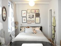 Big bed in a tiny bedroom - love it.