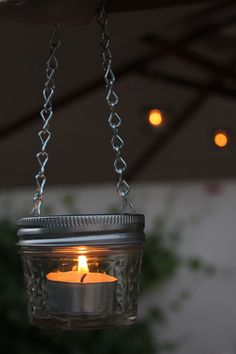 EASY DIY mason jar candle lanterns- Perfect for RV and camping  - Outdoor Ideas