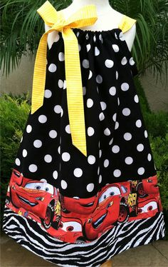 Cars Pillowcase Dress Available 03 months by BabyThreadsByLiz, $28.00