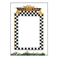want to paint my wall mirror with black and white checkers