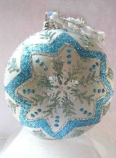 Snowflake Shatterproof Ornament by KARCREATIONS on Etsy, $23.00