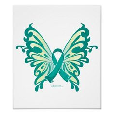Butterfly ovarian cancer symbol