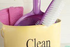DIY Natural Kids' Cleaning Kit + Free Printable Chart