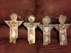 projects for fence boards | Prototype Blessing Angel from old fence wood - by TimHart ...