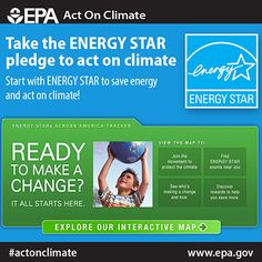 Take the plunge, take the pledge and start with Energy Star to #ActOnClimate.