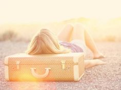 dream, sunny days, old suitcases, travel, blog, sun flare, light, the road, wanderlust