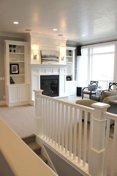 living rooms, fireplaces, fireplace surrounds, shelving units, loft, family rooms, media rooms, apartment ideas, bonus rooms