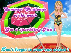 #Summerchallenge of the week! #Fabulous #tanning time!***  #Game's link: http://www.girlgames4u.com/cindy-at-the-beach-makeover-game.html ✿ ✿ ✿