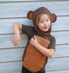 Handmade Monkey Costume Brown Halloween School Play Dress Up Gift Idea Jungle Book