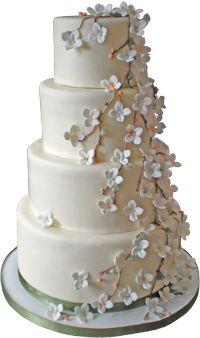 """""""Garden Cake"""" from The Wedding Cake Shoppe"""