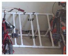 homemade bike racks, organ, diy bike racks, bike rack diy, garag, pvc bike racks, diy idea, homemad bike, build
