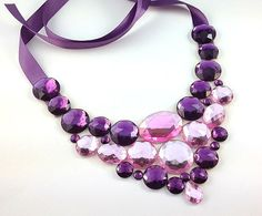 bib purple necklace