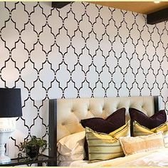 Moroccan Stencils as an accent wall