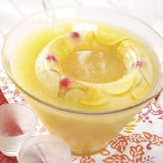 Golden Fruit Punch recipe - includes lemonade, limeade, and ginger ale.