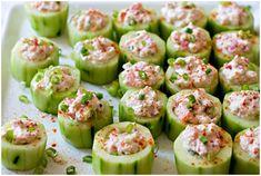 Spicy Crab Cucumber Cups