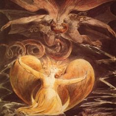 Painter of the Week: William Blake. Today: The Great Red Dragon and the Woman Clothed with Sun...