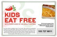 Chilis Kids Eat Free