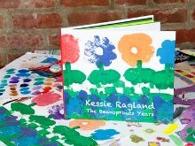Turning the best of your childs art into a coffee table book - FAB idea! sure beats pinning them all over my house!!!