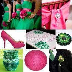 inspiration board - bold pink + emerald