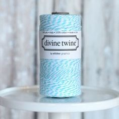 Divine Twine - Aqua - Large Spool from The TomKat Studio Shop www.shoptomkat.com