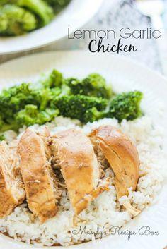 Lemon Garlic Chicken {Slow Cooker recipe}