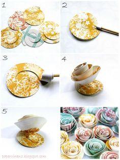 DIY: rolled paper flowers