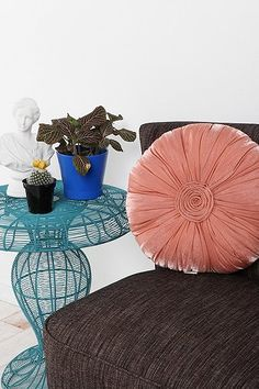 Pleated Rose Pillow #urbanoutfitters