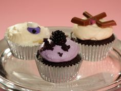 Chocolate Stout and Irish Cream Liqueur Cupcakes from FoodNetwork.com