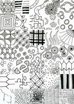 how to doodle art - Zentangle like - zentangle inspired - zentangle patterns - #zentangle #doodleart