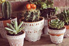 DIY Lace Planter